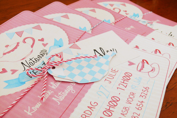 tea party stationery toddler friends