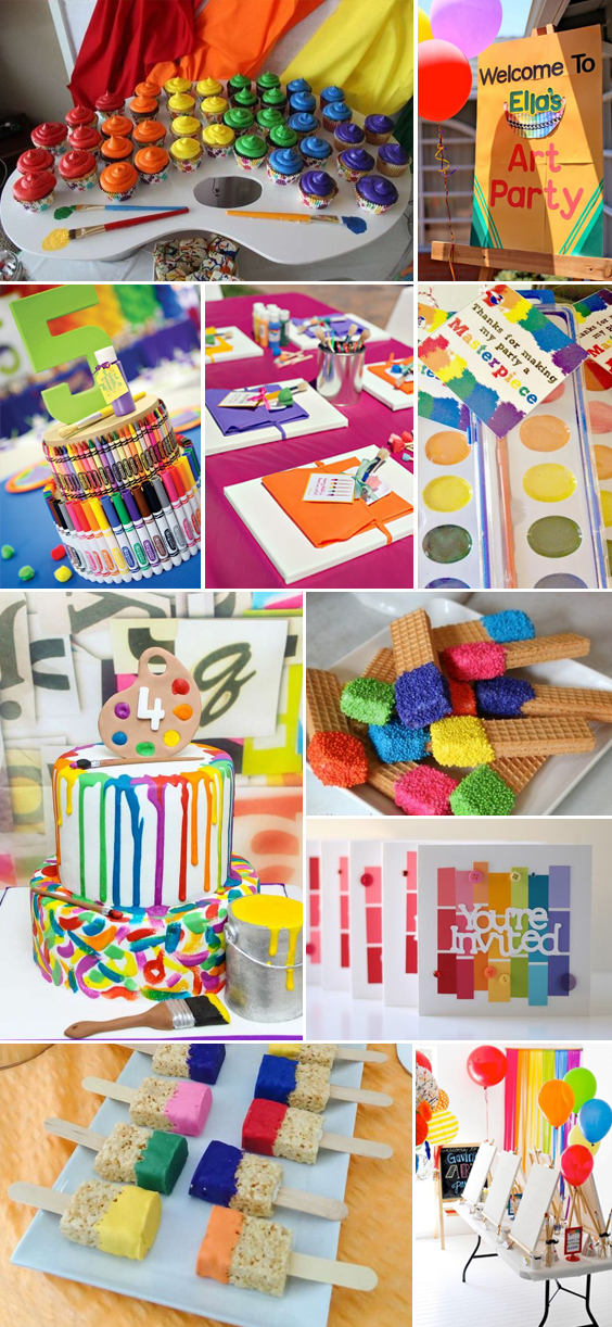 Art Themed Party Inspiration